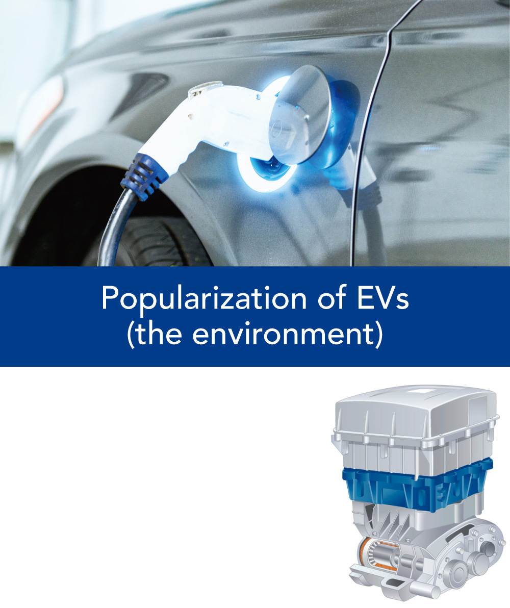 Popularization of EVs(the environment)