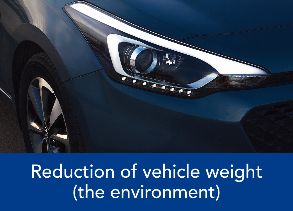 Reduction of vehicle weight(the environment)